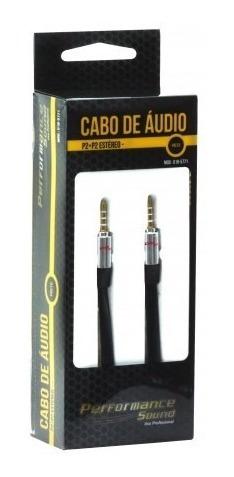 Cabo De Áudio P2 P2 Blindado Estéreo 10 Metros Profissional