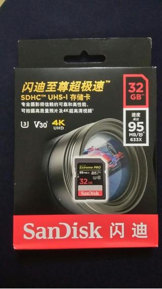 Cartão De Memória Sandisk Sdhc 32gb Extreme Pro