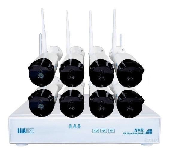 Kit 8 Câmera Ip Wireless Infravermelho 720p Hd Dvr/ Nvr Wifi