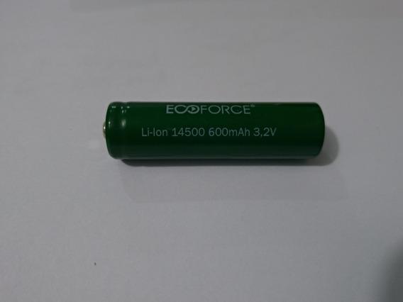 02 Un Pilha Bateria Para Luminaria Solar Ecoforce 3.2v