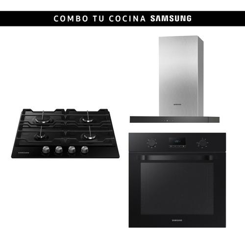 Combo Samsung Horno + Anafe A Gas 4h Negro + Campana Stienda