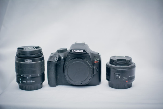 Canon Eos T6 + Lente Yn 35mm + Lente Do Kit