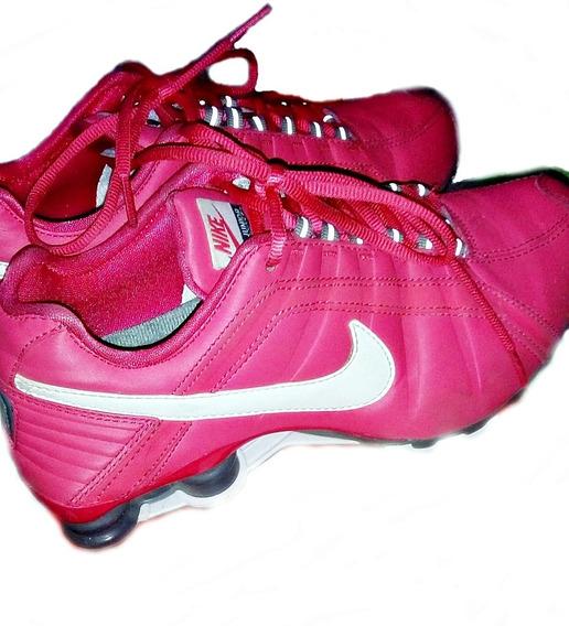 Tênis Nike Shox Junior Rosa E Branco - Feminino - 36