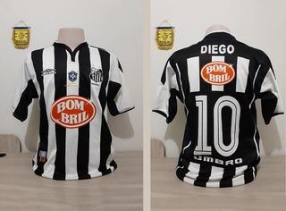 Camisa Oficial Santos, Libertadores 2003 Diego, Tam G
