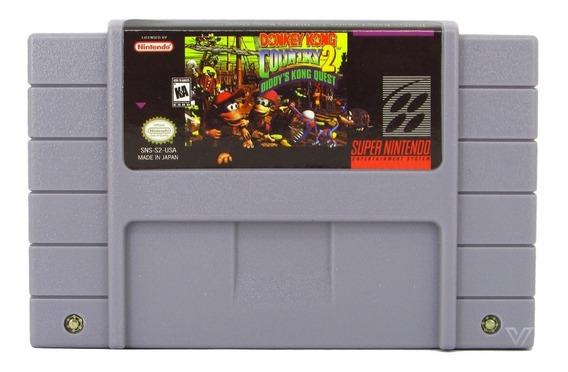 Fita Snes Donkey Kong Country 2 Super Nintendo Snes Salvando