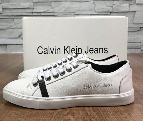 Sapatênis Masculino Calvin Klein De Couro