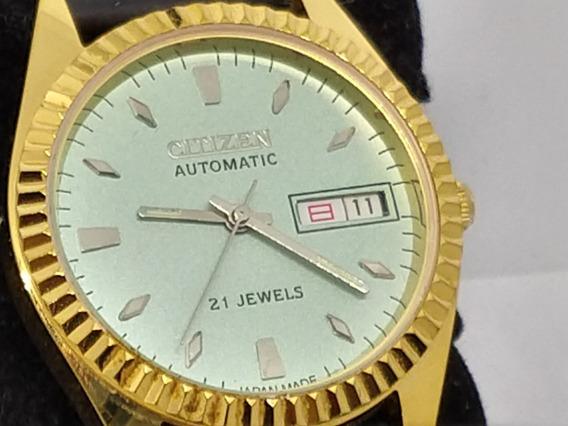 Relógio Citizen Automático Lindo Banho, Anos 70- Antiguidade