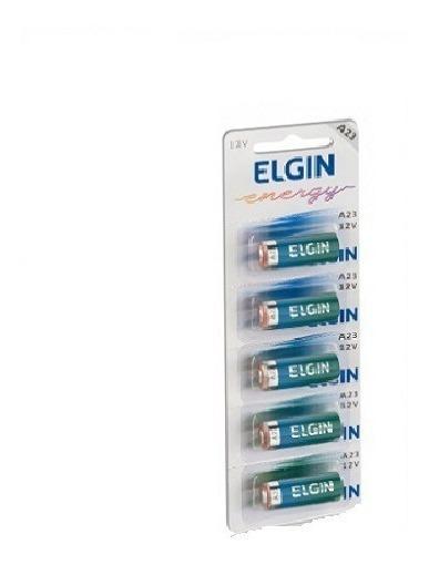 1 Cartelas Baterias Pilha Alcalinas Elgin A23 C/5 12v Oferta