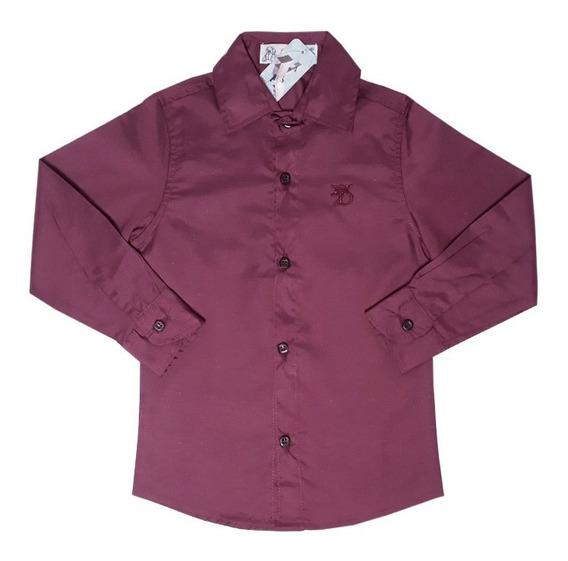 Camisa Social Infantil Rosa Marsala Azul Menino Festa 1 A 16