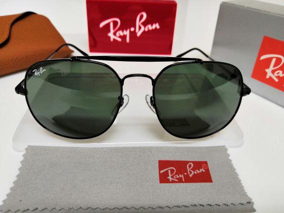 Óculos De Sol Ray-ban Rb3561 General Verde Clássico