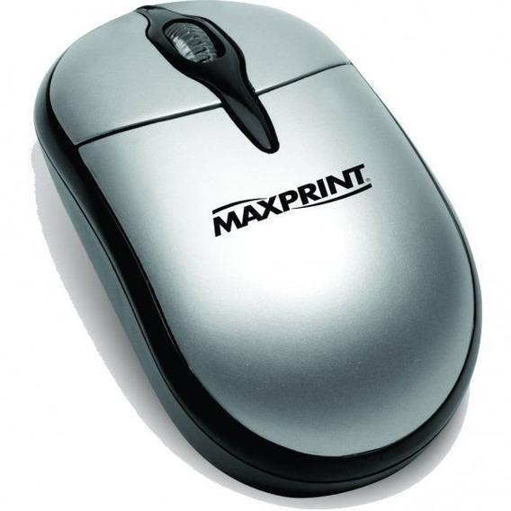 Mouse Óptico Usb Preto E Prata Maxprint 605280 24167