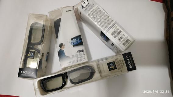 Kit Com 4 Oculos 3d Sony Tdg-br250 - Original -seminovo