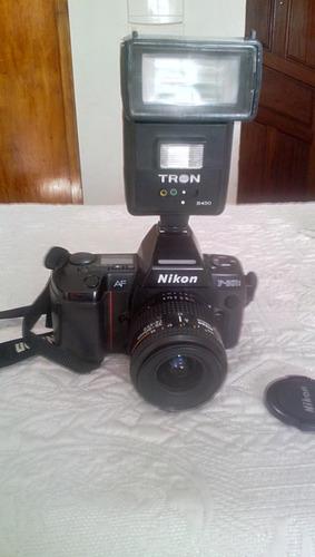 Camera Nikon F801s Lente 35-80mm Bolsa,flash,manual,filtros