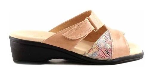 Chinela Mujer Briganti Cuero Zapato Zueco Confort- Mcch26050