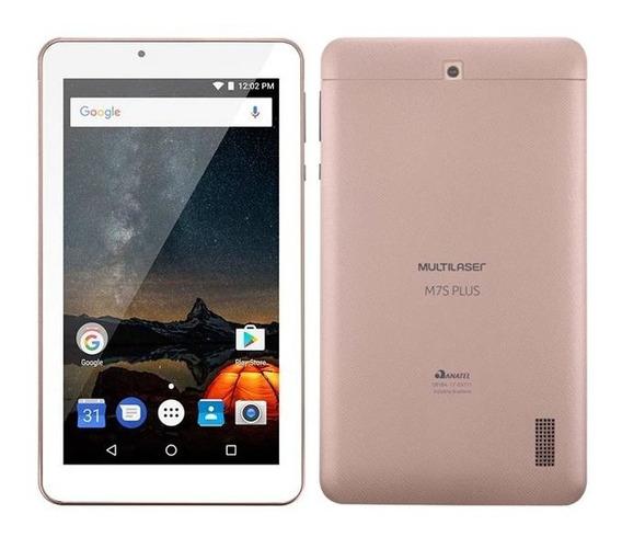Tablet Quad Core Dual Câmera Wifi Android 7 Wifi Rosa M7s