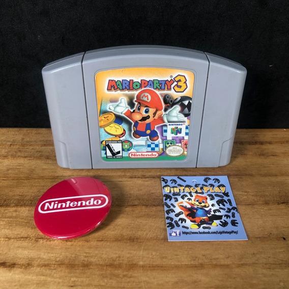 Mario Party 3 100% Original Impecável P/ Nintendo 64!!