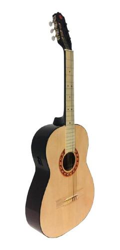 Guitarra clásica electroacústica Guitarras Valdez PS900  arce  natural derecha