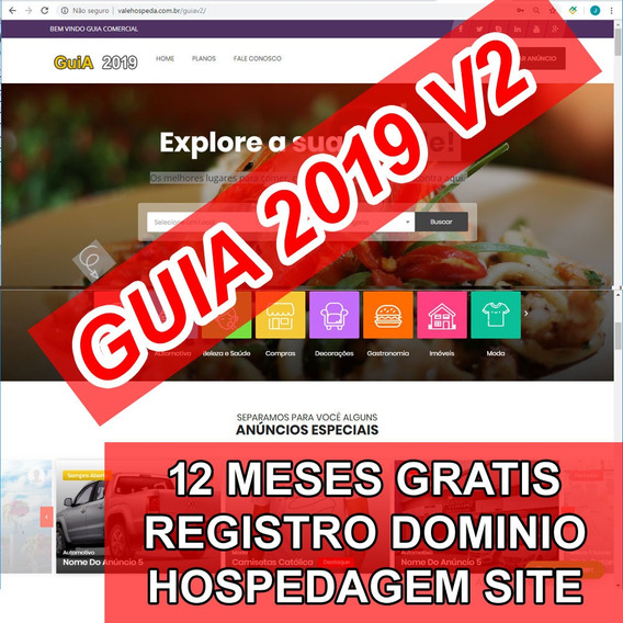 Site Guia Comercial 2019 + 1 Ano Hospedagem E Dominio
