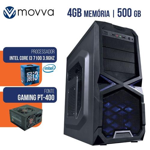 Pc Gamer Intel I3 7100 3.9ghz  4gb Hd 500gb 7ª Geração