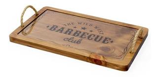 Tábua Para Carne Com Vidro Decorglass Barbecue 40cm
