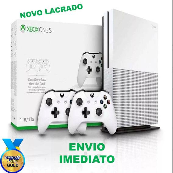 Xbox One S 1tb + 2 Controles Novo Lacrado *loja Física Sp*