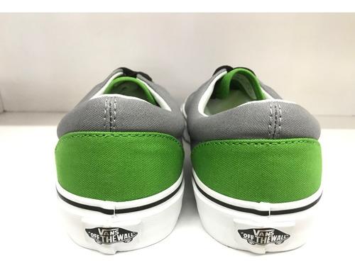 tenis vans gris con verde Off 63%
