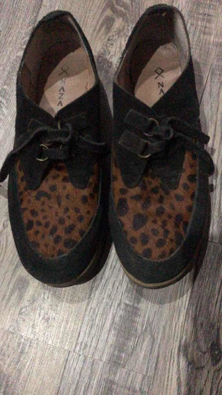 Zapatos Cerrados Talle 35 Animal Print