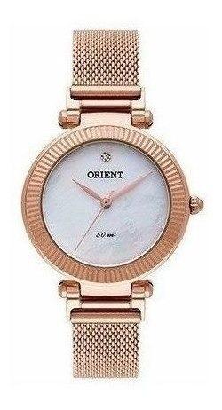 Relógio Orient Feminino Frss0023 B1rx Rosê Original Nf