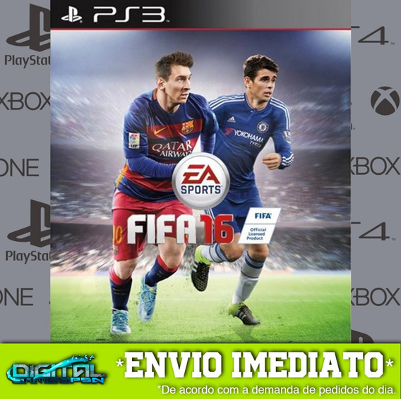 Fifa 16 Ps3 Psn Midia Digital Envio Hj!