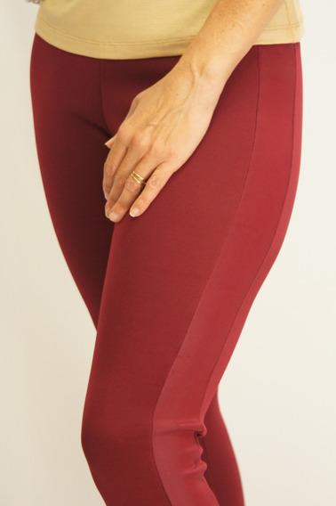 Calza Combinada Con Foil De Cuero - Talles S Al Xxl