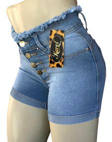 Kit 3 Shorts Femininos Cintura Alta C/ Lycra - Liquidação