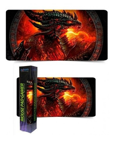 Mouse Pad Gamer Extra Grande Large Mouse Teclado 70x35cm Pc