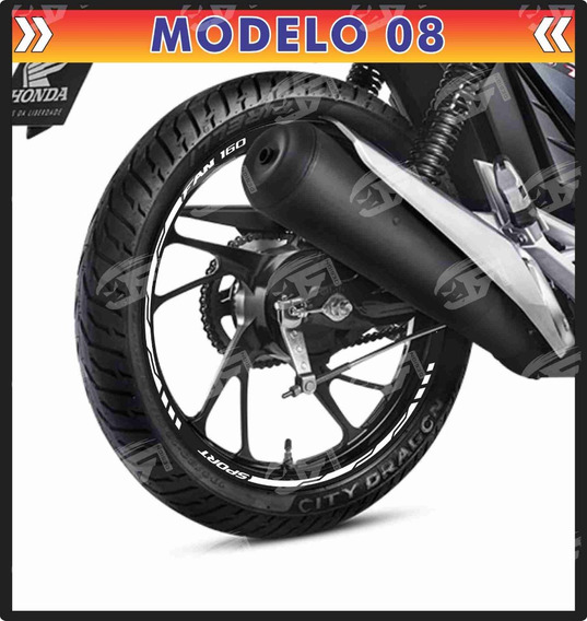 Adesivo Friso Refletivo Honda Fan 160 150 125 M08
