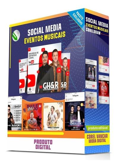 Pacote De Artes Para Rede Social Em Coreldraw