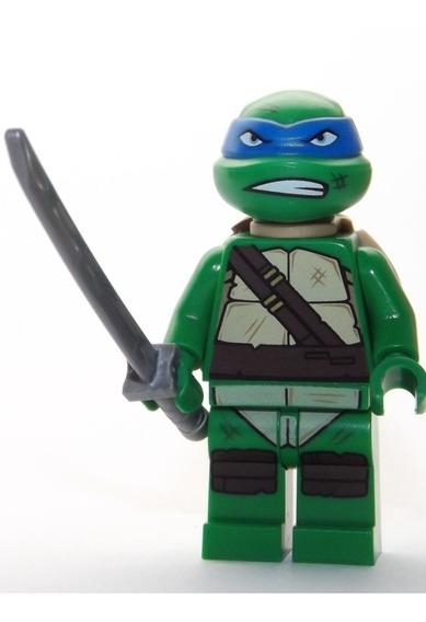 Lego Boneco Leonardo Espada - Tartarugas Ninja - Original