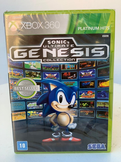 Sonic Ultimate Genesis Collection- Xbox 360-novo-lacrado