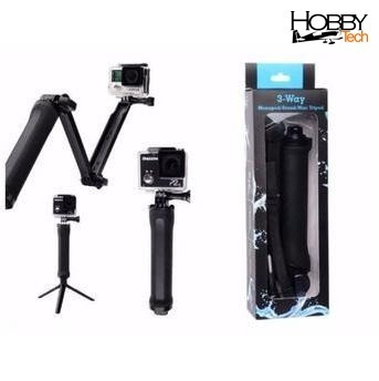 Monopode 3way Para Câmeras Esportivas - Gopro Sj4000 Sj 5000