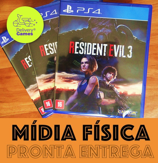 Resident Evil 3 Remake Ps4 Mídia Física Novo Lacrado Com Nf