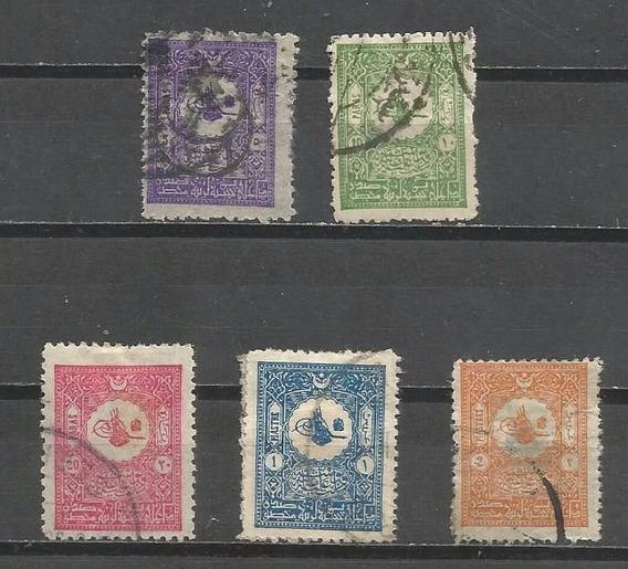 Selo Turquia,5 Selos S.era Clássica Postal Interno 1901,u.