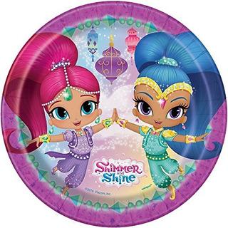 Shimmer Y Shine Placas De Postre 8ct