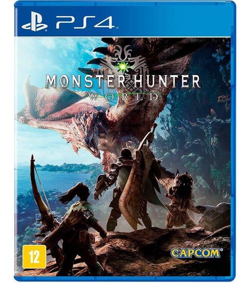 Jogo Monster Hunter World Ps4 Midia Fisica Original Lacrado