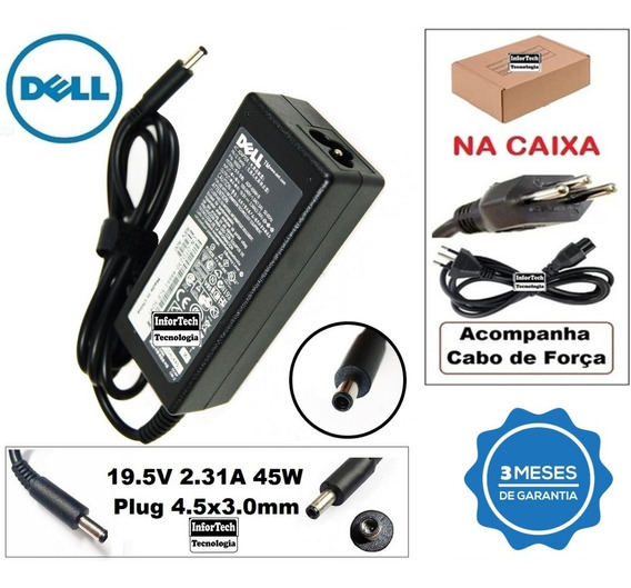 Carregador Para Notebook Dell 19.5v 2.31a 45w Novo!