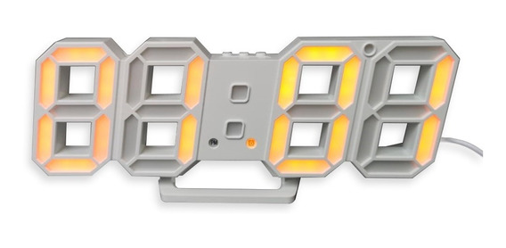 Relógio Digital 3d Led Parede Mesa Alarme Snooze 24 Ou 12 Ho