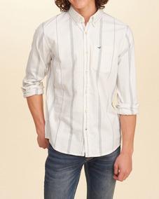 Camisa Original Masculina Hollister Social Casual Listrada G