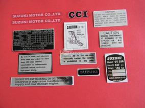 Kit De Adesivos Da Época (réplica) Suzuki Gt-250 73 A 78