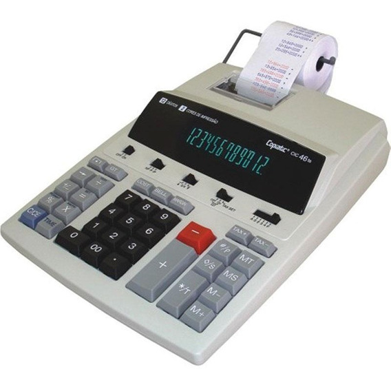 Calculadora Mesa Bobina Impressão Copiatic 46 Ts Bege Menno