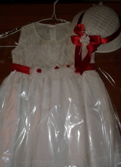 Vestido De Niña Bautizo,fiesta Talla 1 Usado