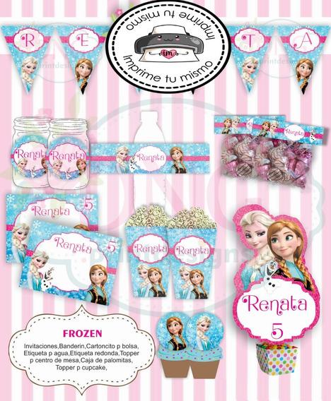 Kit Imprimible Frozen Invitación Etiquetas Candy Bar