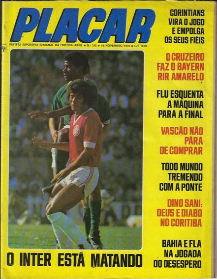 1976 Revista Placar Nº 345 Ed Abril Pôster Ortiz Cam