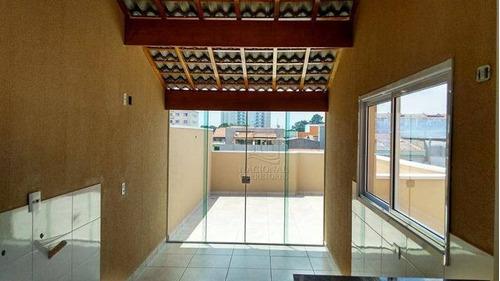 Cobertura Com 2 Dormitórios À Venda, 90 M² Por R$ 320.000 - Vila Camilópolis - Santo André/sp - Co2468